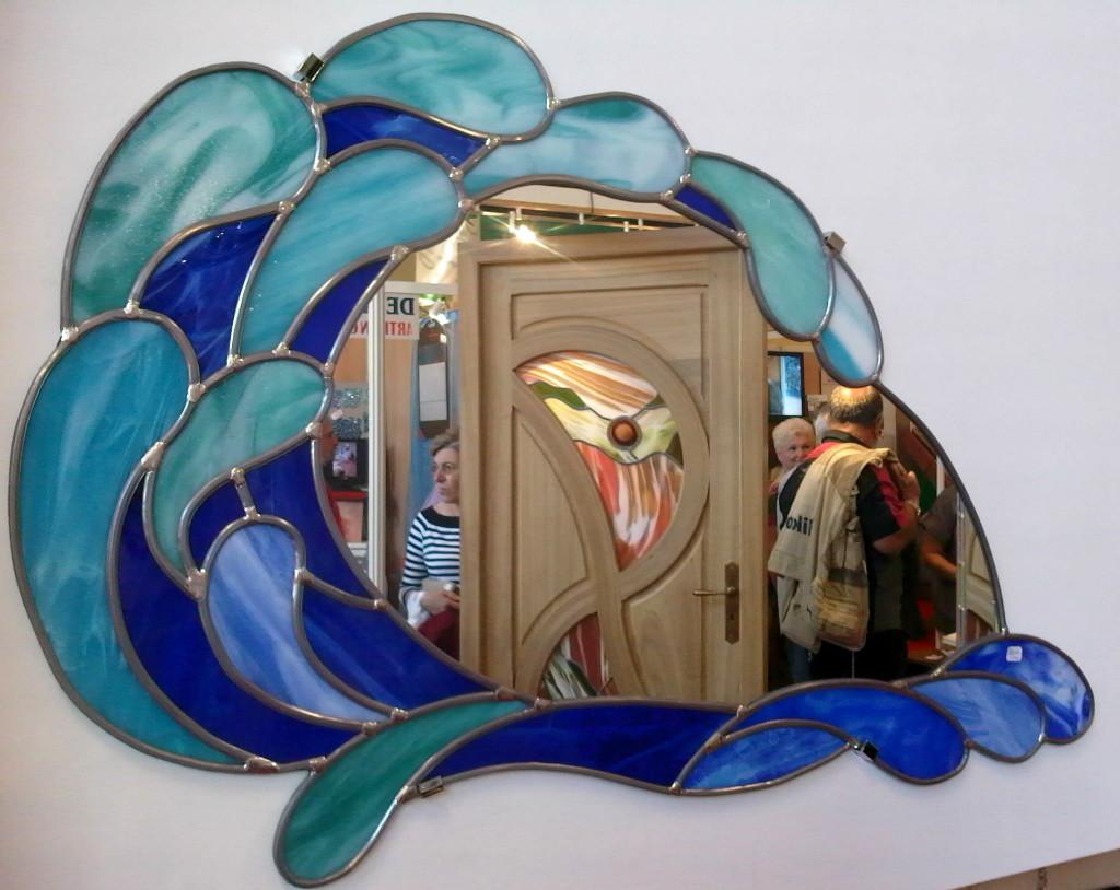 Vitrail miroir vague vitraux d 39 art vanessa dazelle for Miroir vague