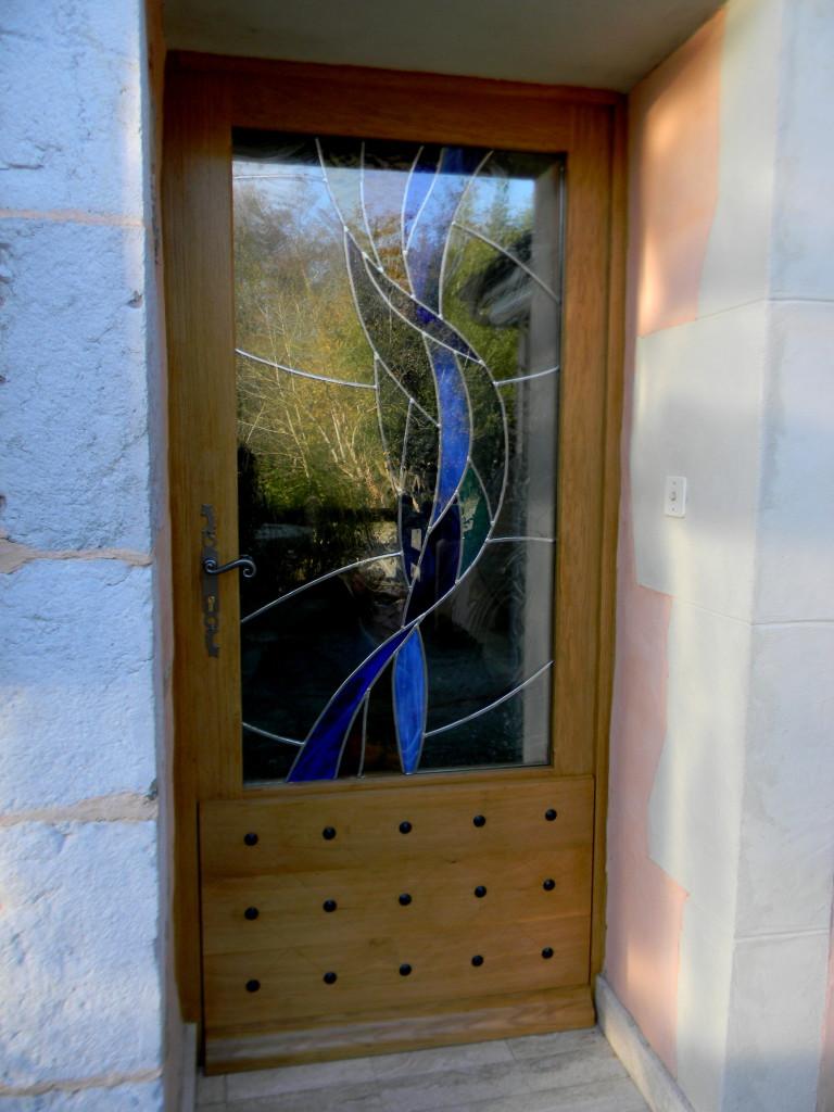 Vitrail porte d entr e contemporaine 10 vitraux d 39 art vanessa dazelle - Porte d entree avec vitrail ...