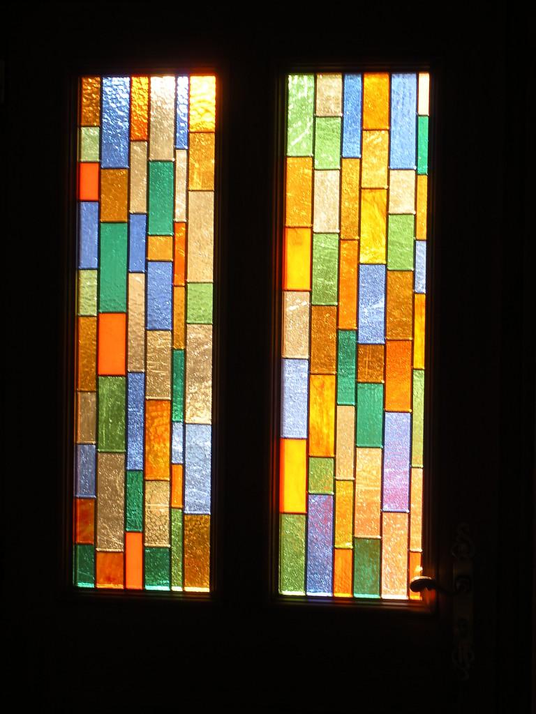 Vitrail porte d entr e contemporaine 5 motif rectangles multicolores vitraux d 39 art vanessa dazelle - Porte d entree avec vitrail ...