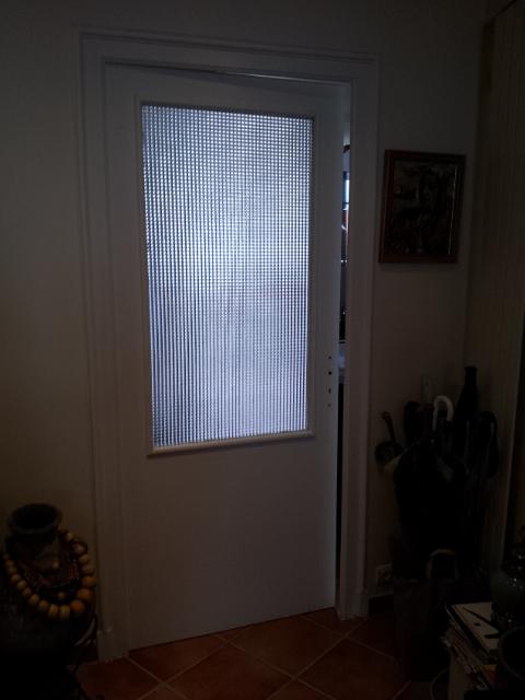 Vitrail porte int rieure motif contemporain vitraux d for Remplacement porte interieure