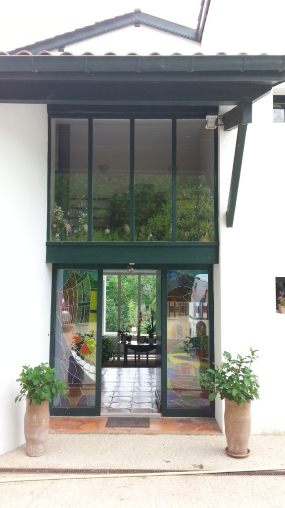 Vitrail porte d entr e st p sur nivelle vitraux d 39 art vanessa dazelle - Porte d entree avec vitrail ...