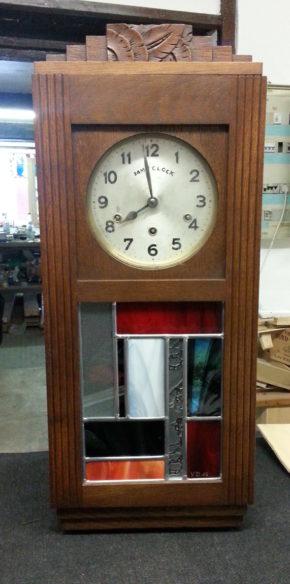vitrail pour porte d'horloge