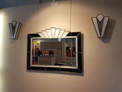 Miroir art d co noir et blanc vitraux d 39 art vanessa dazelle - Miroir noir et blanc ...