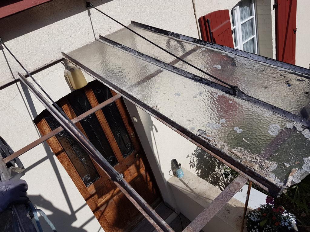 Restauration d une marquise orthez vitraux d 39 art vanessa dazelle for Une marquise