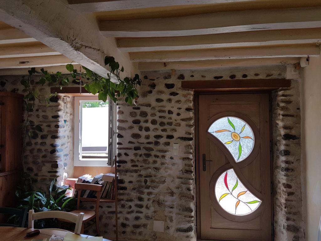 Porte d entr e sur mesure avec vitrail en double vitrage - Porte d entree double ...