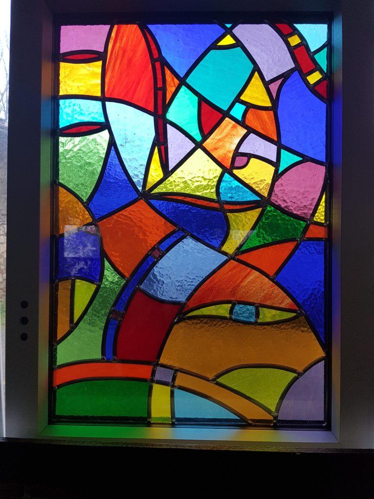 vitrail contemporain style abstrait vitraux d 39 art vanessa dazelle. Black Bedroom Furniture Sets. Home Design Ideas