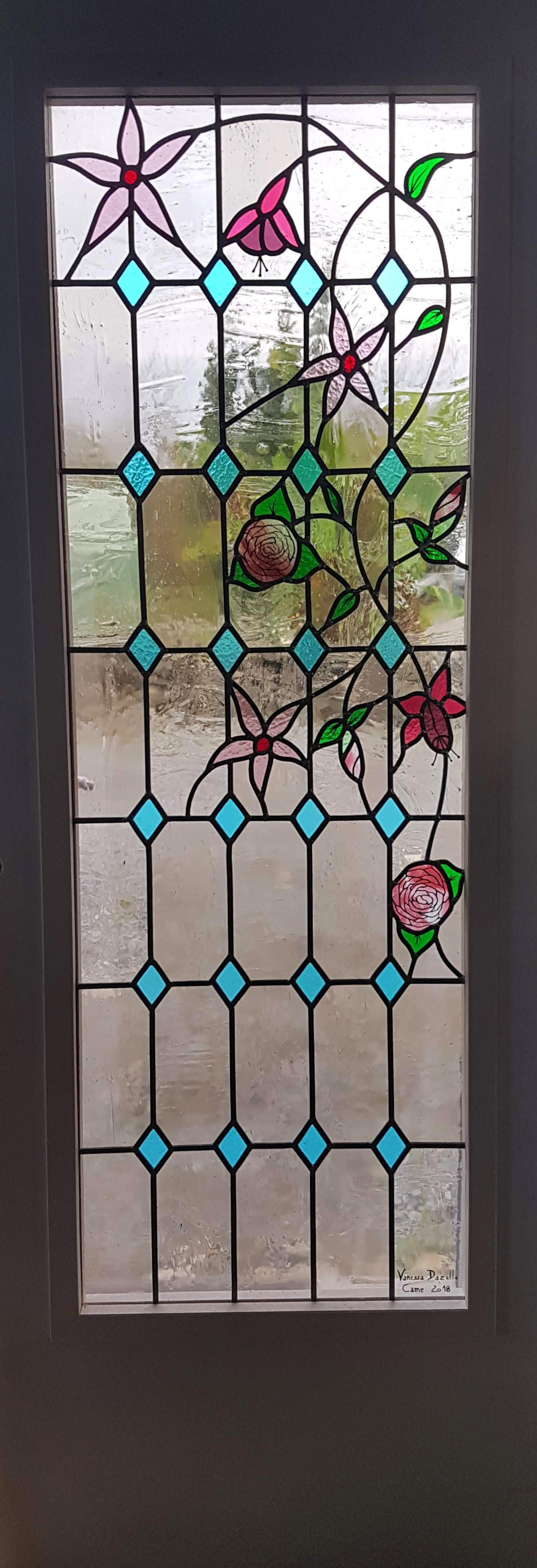 transformation d une porte int rieure vitrail pau vitraux d 39 art vanessa dazelle. Black Bedroom Furniture Sets. Home Design Ideas