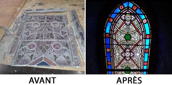 Restauration du vitrail de l'église d'Iholdy