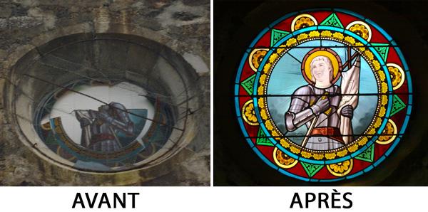 Restauration du vitrail de l'église de Viellenave-sur-Bidouze