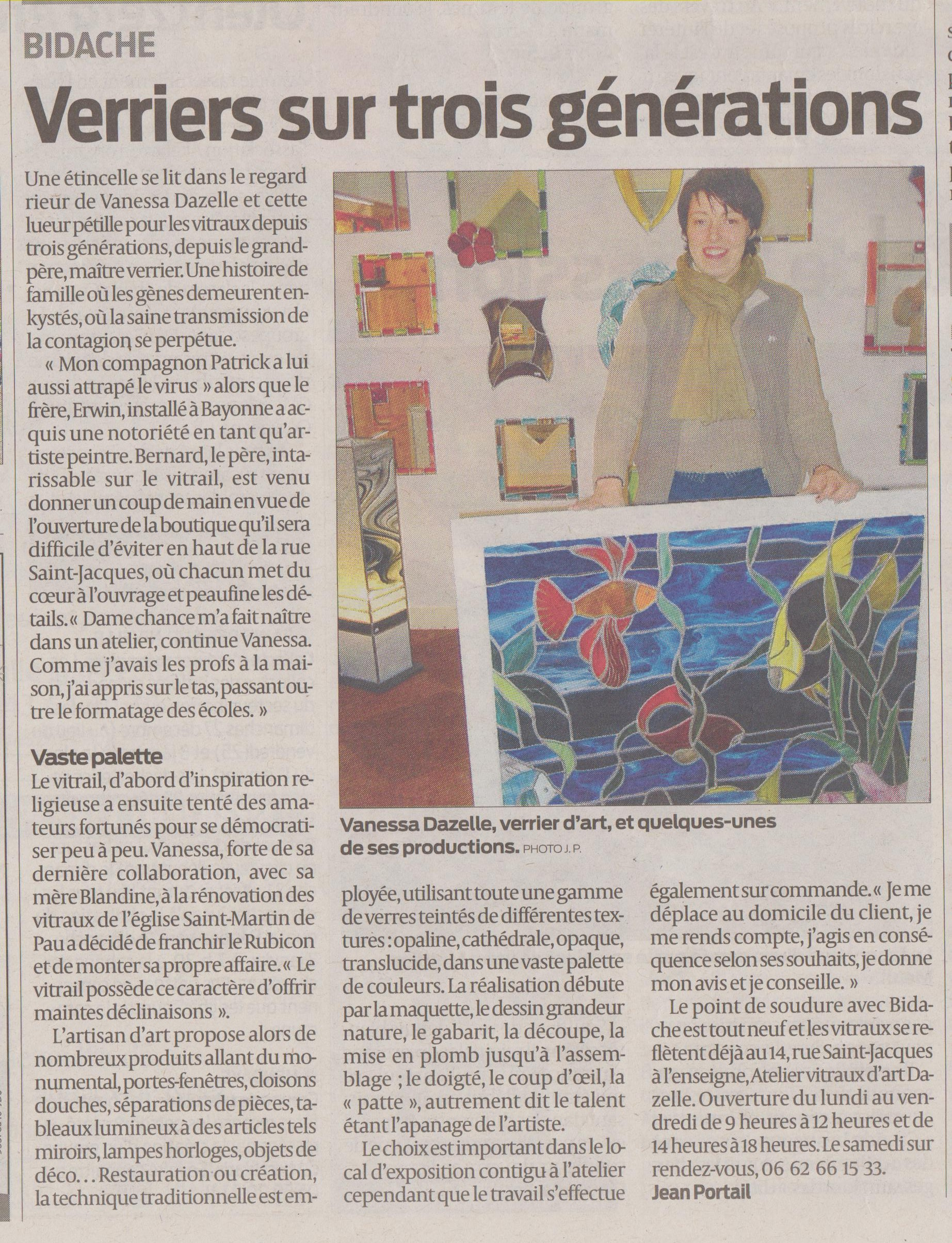 article sud ouest 21 12 2009