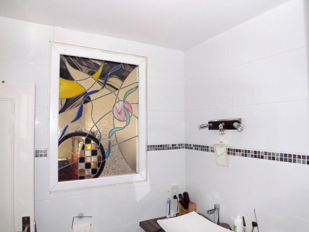 Vitrail Abstrait Cloison Salle De Bain Et S Jour Vitraux