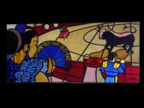 vitrail Dazelle Sevillane tauromachie